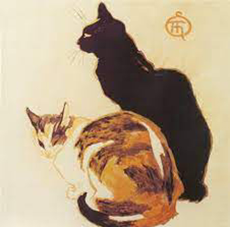Two cats by Theophile Alexandre Steinlen.